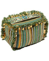 Monsoon Multi-stitch Embellished Door Stop - Green