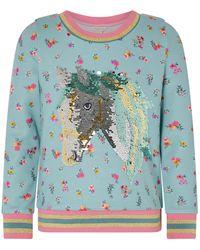 Monsoon Sequin Horse Floral Sweatshirt - Multicolour