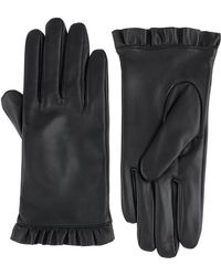 Monsoon - Lily Leather Frill Glove - Lyst