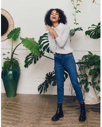 Monsoon Women's Blue Breathable Organic Cotton Safaia Crop Jeans, Size: 14