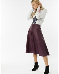 Monsoon - Poppy Pu Skirt - Lyst