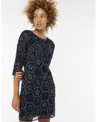 47dc87edc9 Boohoo Plus Sinead Floral Peplum Dress in Blue - Lyst