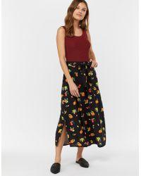 Monsoon - Laticia Fruit Print Midi Skirt - Lyst