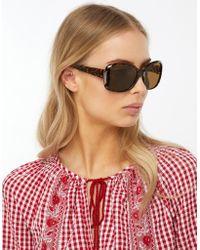 Monsoon - Marley Metal Trim Wrap Sunglasses - Lyst