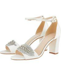 ce2cb28a938 Monsoon - Farin Feather Vamp Block Heel Bridal Sandals - Lyst