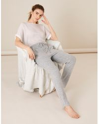 Monsoon Grey Grey Lounge Jules Joggers, In Size: L, In Size: L