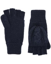 Monsoon - Sparkle Cable Butterfly Capped Gloves - Lyst