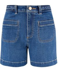 Monsoon Lucille Denim Shorts With Recycled Fabric Blue