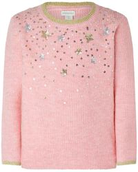 Monsoon Sequin Star Knit Jumper - Metallic