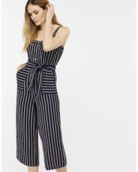 Monsoon - Reena Stripe Linen Jumpsuit - Lyst