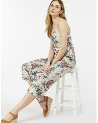 Monsoon - Leia Print Linen Jumpsuit - Lyst