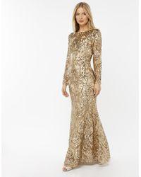 Monsoon - Marina Sequin Maxi Dress - Lyst