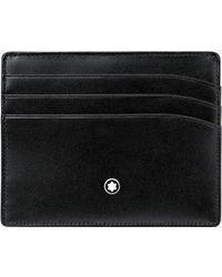 Montblanc Meisterstück Portatarjetas De Bolsillo Para 6 Tarjetas - Negro