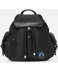 Montblanc Blue Spirit Rucksack Mit Taschen - Schwarz