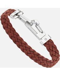 Montblanc Wrap Me Armband Aus Leder In Braun