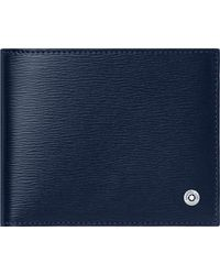Montblanc 4810 Westside Brieftasche 6 cc - Blau