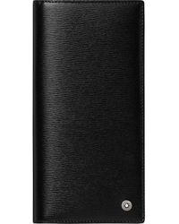 Montblanc 4810 Westside längliche Brieftasche 6 cc mit Reißverschlussfach - Schwarz