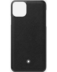 Montblanc Custodia Rigida Sartorial Per Telefono Apple Iphone 11 Pro Max - Nero