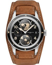 Montblanc - 1858 Geosphere Watch 42 Mm Aged Brown Sfumato Stainless Steel - Lyst