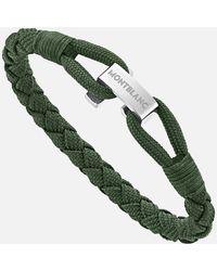 Montblanc Wrap Me Armband Aus Nylon Und Edelstahl In Grün