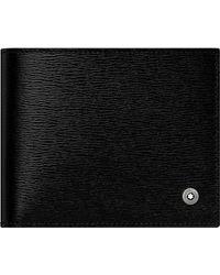 Montblanc 4810 Westside Brieftasche 6 cc mit 2 Sichtfächern - Schwarz