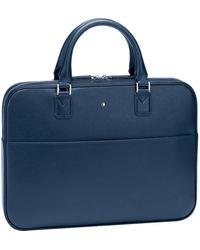 Montblanc Porte-documents ultra fin Sartorial - Bleu