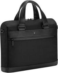 Montblanc Nightflight Slim Briefcase - Black