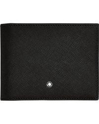 Montblanc Sartorial Brieftasche 4 cc mit Geldclip - Schwarz