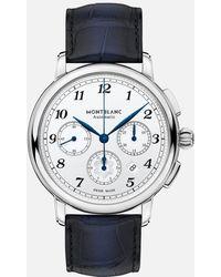 Montblanc Star Legacy Automatic Chronograph - Blau