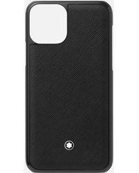Montblanc Custodia Rigida Sartorial Per Telefono Apple Iphone 11 Pro - Nero