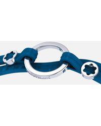 Montblanc Wrap Me Armband Aus Blauem Leder