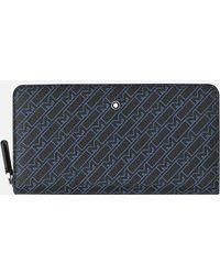 Montblanc M_gram 4810 Brieftasche 12 Cc Mit Umlaufendem Reißverschluss - Blau