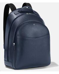 Montblanc Sartorial Rucksack Groß Mit 3 Hauptfächern - Blau