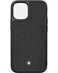Montblanc Étui Rigide Sartorial Pour Iphone Apple 12 Mini - Noir