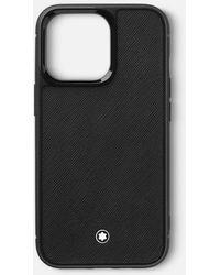 Montblanc Sartorial Funda Rígida Para Apple Iphone 13 pro - Negro