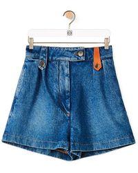 Loewe Denim Shorts - Blue