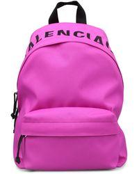 Balenciaga Logo Backpack - Pink