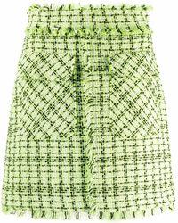 MSGM A-line Tweed Skirt - Green