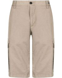 Paul & Shark Cotton Cargo Shorts - Natural
