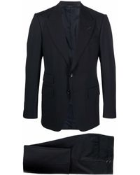 Tom Ford Single-breasted Slim-cut Suit - Black