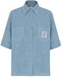 Fendi Chambray Shirt - Blue
