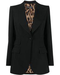 Dolce & Gabbana Blazer monopetto sartoriale - Nero