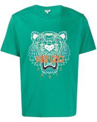 KENZO T-shirt con stampa - Verde