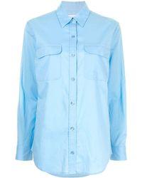 Equipment Signature Cotton Shirt - Blue