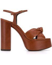 Saint Laurent Bianca Sandals New Papaya - Brown