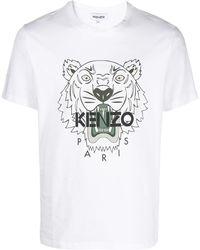 KENZO T-shirt con stampa - Bianco