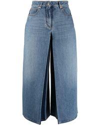 Valentino Pantaloni stile gonna denim - Blu