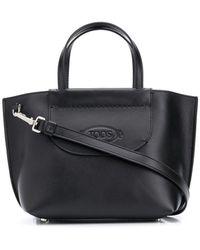 Tod's Mini Logo Shopper - Black