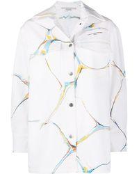 Stella McCartney Graphic-print Denim Jacket - White
