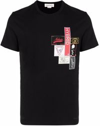 Alexander McQueen T-shirt Stampa - Nero